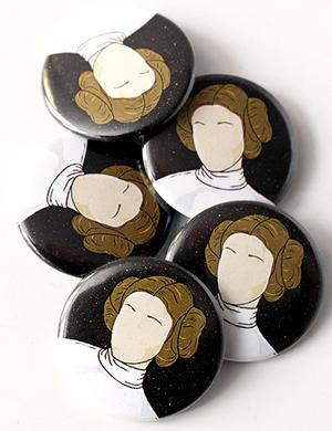 Princess Leia Button Combo (5 Pack) Clothing