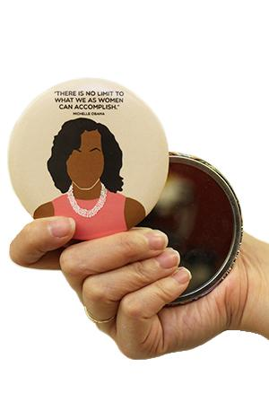 Pocket Mirror: Michelle Obama Icon Souvenirs & Stationery