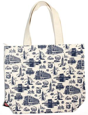Large Tote: Strand City Toile